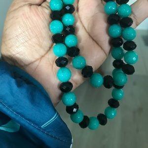 "Jade necklace- 11"" length."